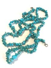 Designer Statement Necklace Long Turquoise Blue Stone Premier Urban Chic 13M