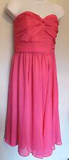 H&M UK12 EU38 US8 new bright pink chiffon strapless dress