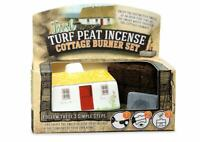 Irish Turf Peat Incense Ceramic Cottage Burner Set