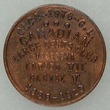 Bicentennial Indian Head Advertising Token Canadian Large Cents Club, Canada