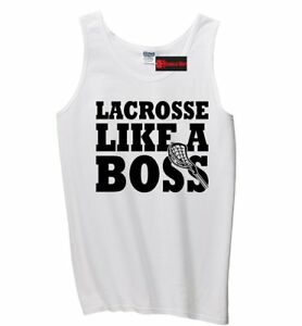 Lacrosse Like A Boss Mens Tank Top Lacrosse LAX Player Sports Graphic Tee Z3
