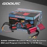 Original GoolRC S3660 3800KV Sensorless Brushless Motor 80A Brushless ESC E3V4