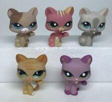 LPS Littlest Pet Shop Cat Lot of 5 AUTHENTIC Short Hair Paw Up Tongue Out Cats