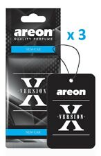 3 x Areon X Version NEW CAR Car Air Fresheners Scent Cardboard tree