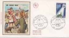 FRANCE 1971.F.D.C.SOIE.AIDE FAMILIALE RURALE.OBLI:LE 5/6/71 ANGERS