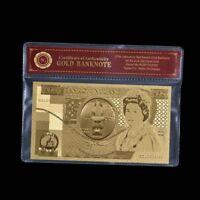 WR Großbritannien Alt £50 Gold Banknote Fünfzig Pfund British UK Souvenir