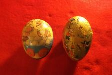 Vintage West German Paper Easter Eggs With Illustrations Candy Containers