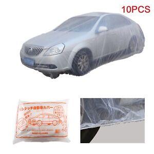 10Pcs Portable Disposable Plastic Car Waterproof Vehicle Cover Universal