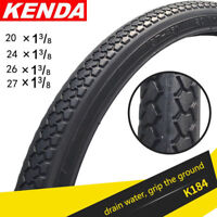 KENDA Bicycle Tire 20/24/26/27 inch*1 3/8 Tires MTB Road Bike Tire 1 Tire Black