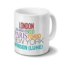 "Städtetasse Winsen (Luhe) - Design ""Famous Cities in the World"""