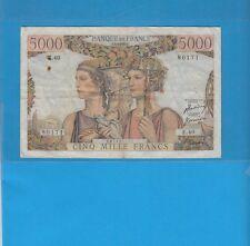 Gertbrolen 5000 FRANCS ( Terre et Mer ) du 1-2-1951   E.40
