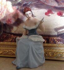 ROYAL DUX Bohemia  LADY With MIRROR Girl Woman Female Porcelain FIGURINE