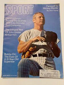 1969 April Sport Magazine Mickey Mantle New York Yankees, Bobby Orr,(B86)