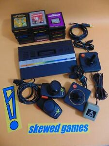 Atari 2600 Junior Console - System Bundle Lot with 14 Games 2 Joysticks Paddles