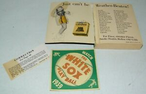 Vintage 1939 The White Sox Major League Baseball Window Decal, Schedule & Book
