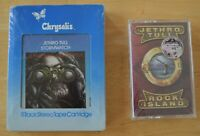2 TAPES- 8 Track & Cassette JETHRO TULL STORMWATCH, ROCK ISLAND-RARE NEW SEALED!