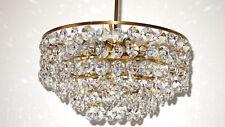 Wunderschöne Antik Messing-Bleikristall Kronleuchter, Lüster 8 Flammig