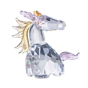 LONGWIN Crystal Dream Unicorn Glass Figure Ornament Collection Christmas Gift