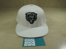 VINTAGE NFL CHICAGO BEARS FOOTBALL NEW ERA FITTED HAT WHITE BLACK 7 1/2 CAP
