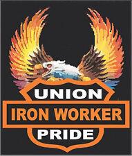 HARD HAT STICKERS, UNION IRON WORKER CIW-7
