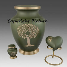 Tree of Life Cremation Urn, Adult Urn, Brass, New~Full Set~Beautiful