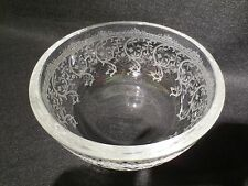 ST. LOUIS CRYSTAL ETCHED BOWL FRANCE