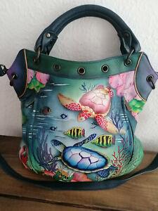 ANUSCHKA Damentasche - Shopper - Sommertasche - Meeresmotiv - NEU