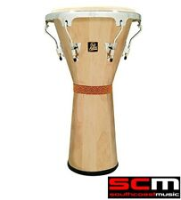 "RRP$470 LP Latin Percussion LPA630AWC Aspire Natural Wooden 12"" Djembe Hand Drum"