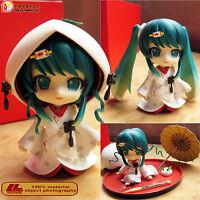 """Anime Hatsune Snow Miku Strawberry White Kimono Nendoroid 303# 4"""" Action Figure"""