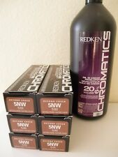 SIX TUBES REDKEN Chromatics Beyond Cover Hair Color 5NW + 20V Developer 32oz
