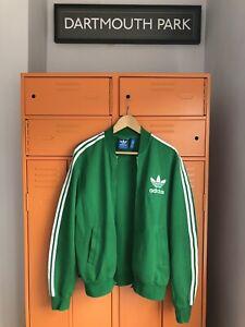 "Adidas Original Vintage Track Jacket Retro Tracksuit Top Oldschool VGC M 44"""