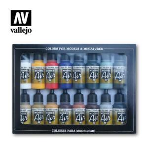 Model Air Set - Basic Colors (x16) - Acrylic model paint AV Vallejo 71.178