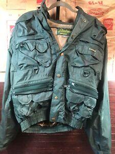Vintage Hodgeman Lakestream Fishing Rain Jacket Mens M Green