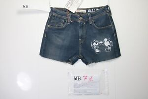 Jean Levis 627 Court Stretch Customized (Code WB71) Tg.42 W28 Femme Taille Haute