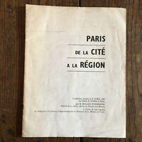 París de La Ciudad Región Conferencia Roland Nungesser Palacio Chaillot 1964