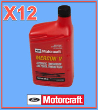 12 Qt. Genuine FORD Auto. Trans. & Power Steer Fluid Motorcraft XT5QMC MERCON V