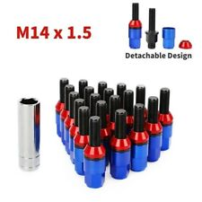 20pc Blue Wheel Lug Bolts Kit M14x1.5 Cone Seat Extended Stud + Key for Porsche