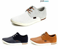 Mens Leather Casual Lace Up  Flat Driving Shoes Italian Fashion UK Size 7-12 NEW