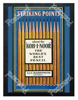 Historic Koh-I-Noor pencils, 1900s Advertising Postcard 2