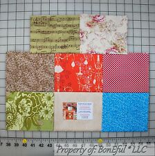 BonEful Fabric COTTON QUILT LOT Flower Garden Calico Shabby Chic Spring Cottage
