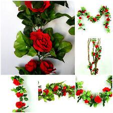 1,90 m Blumenranke Rose Kunstblume Girlande Hochzeit Taufe Dekoration Rot K029