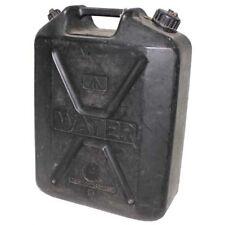 britannique bidon d'eau 20L plastique noir utilisé camping