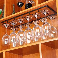 Wine Rack Holder Stainless Steel Hanging Racks Glass Cup Stemware Shelf Mounted