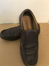 Men's Geox Brown Leather Respira Loafer Size 41.5 /8US Slip On Clean World P.C.T