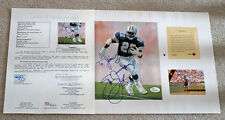 Emmitt Smith Signed Lithograph Cowboys 11x14 JSA LOA