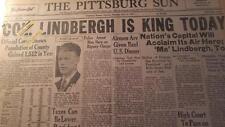 1927 NEWSPAPER COLLECTION #J5323- CHARLES LINDBURGH AVIATION- ATLANTIC CROSSING
