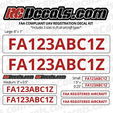 DRONE Registration Number FAA UAV UAS Decals for ANY DRONE - UNIVERSAL 11 Pc Kit