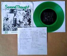 SECOND THOUGHT - FASCIST SONG b/w LIST - DRM - GREEN VINYL 45 + PIC. CVR, LYRICS