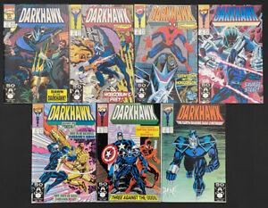 Darkhawk #1-7 comic lot / run (Marvel 1991) 1st app & origin Darkhawk ~ Avg. NM