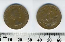 GREAT BRITAIN 1958 - Half Penny Bronze Coin - Queen Elizabeth II - Golden Hind